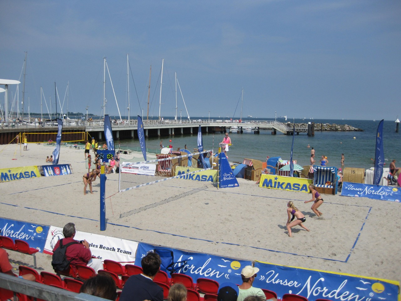Beachvolleyball DM U 19 Kiel Schilksee 25.-28.07.2013